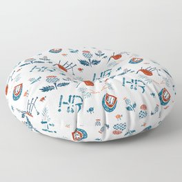 Highland Reign - Pipes and Thistles Floor Pillow