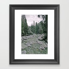 Yosemite Cold River Framed Art Print