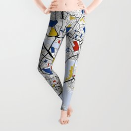 Boston mondrian map Leggings