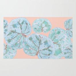 Tropical Sea Grape Leaves Rug