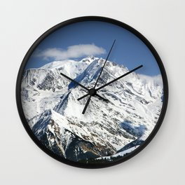 Mt. Blanc with clouds Wall Clock
