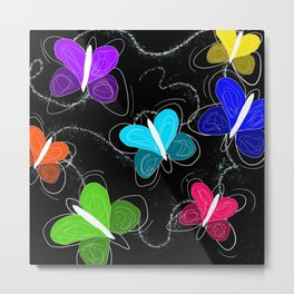 What's a butter fly? Metal Print