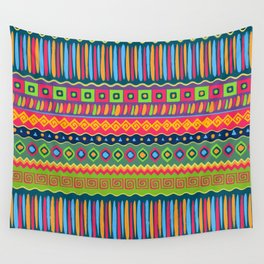 African abstract geometric pattern Wall Tapestry