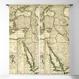 Map of the Ottoman Empire (1654) Blackout Curtain