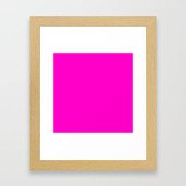 Fluorescent neon pink | Solid Colour Framed Art Print