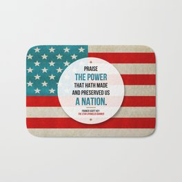 Preserved us a Nation Bath Mat