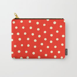 Happy polkadots red Carry-All Pouch