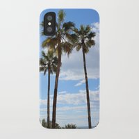 palm trees iPhone & iPod Cases featuring Palm Trees by Rebecca Bear