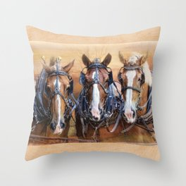 Working for the Man Throw Pillow