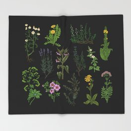 medicinal plants 2 Throw Blanket