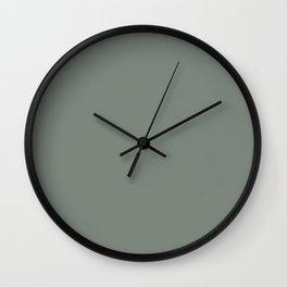 Behr Village Green (Greenish Dark Gray) N410-5 Solid Color Wall Clock