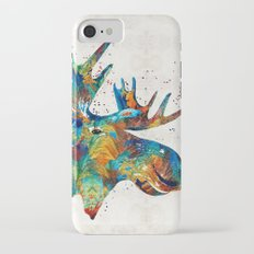 Colorful Moose Art - Confetti - By Sharon Cummings iPhone 7 Slim Case
