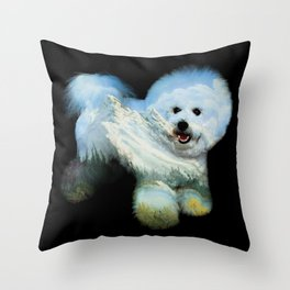 Dog Ross Throw Pillow