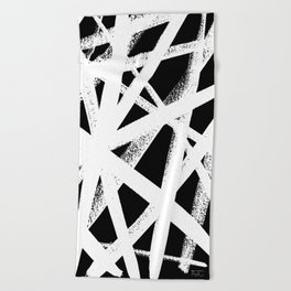 So Cross White Beach Towel