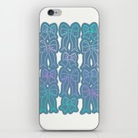 bows iPhone & iPod Skins featuring Bows by Jessica Slater Design & Illustration