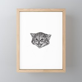 Cat Person Chef Funny Foodie Cat Lover Framed Mini Art Print