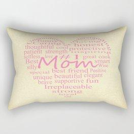 Defintion Of A Mother-Heart Outline Rectangular Pillow