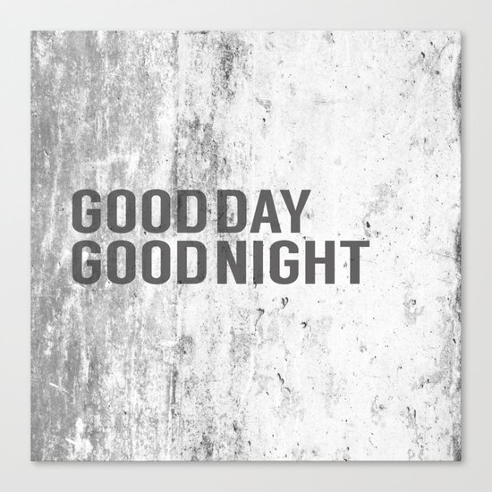 good day / good night Canvas Print