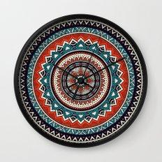 Hippie Mandala 8 Wall Clock