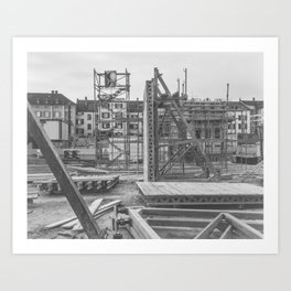Construction site in the city Art Print