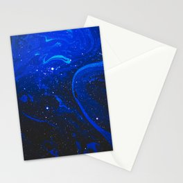 Space Marble Liquid v1 Stationery Cards