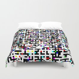 Abstract 8 Bit Pattern Duvet Cover