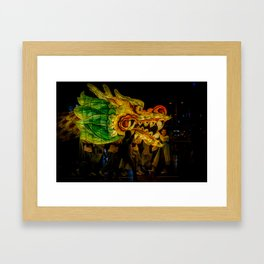 Lantern Parade Dragon Framed Art Print