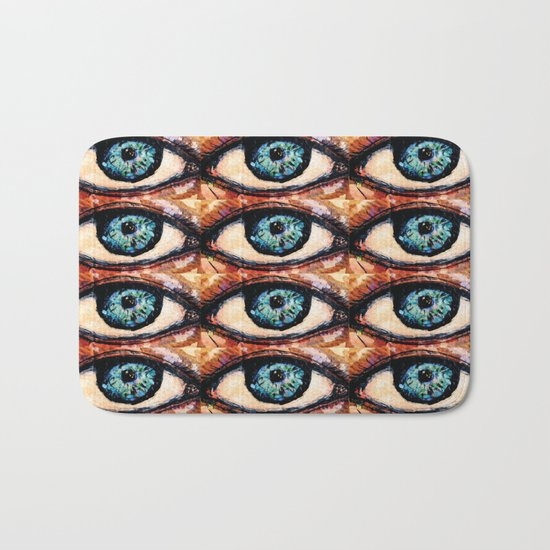 Watercolor Eye Bath Mat