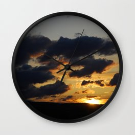 I just love sunsets Wall Clock
