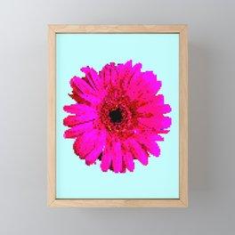 Pixel Art Flower Framed Mini Art Print