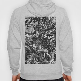 Automobile car parts pattern Hoody