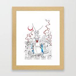 Praying Mantee Framed Art Print