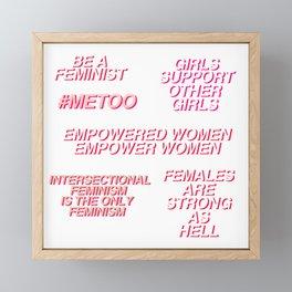 feminist quotes set Framed Mini Art Print