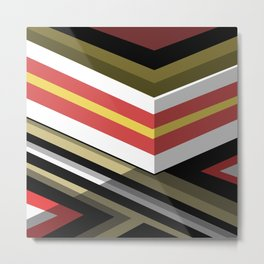 Abstract Lined Metal Print