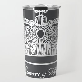 County of Kings   Brooklyn NYC Crown (WHITE) Travel Mug