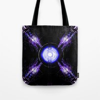 ouija Tote Bags featuring Ouija by Violet Vibrance
