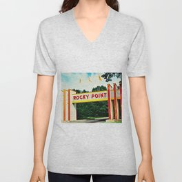Rocky Point Amusement Park Photograph #2 – Warwick, Rhode Island Unisex V-Neck