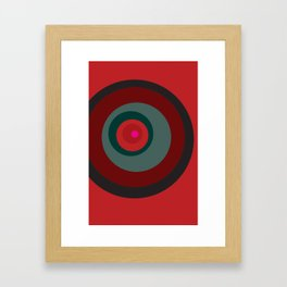 Red No. 1 Framed Art Print