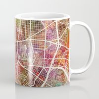 madrid Mugs featuring Madrid by MapMapMaps.Watercolors