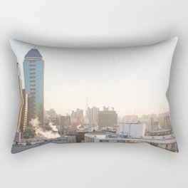 Peaceful Coffee Drinking Morning in Urban City Rectangular Pillow