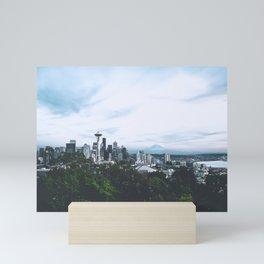 Seattle afternoon views Mini Art Print