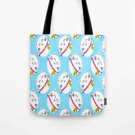 Japanese Lucky Cat The maneki-neko Seamless Pattern Tote Bag