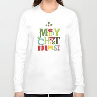 merry christmas Long Sleeve T-shirts featuring Merry Christmas! by Noonday Design