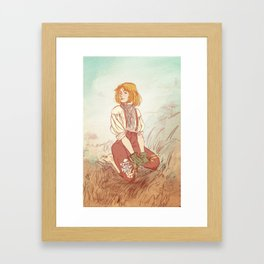 Prouvaire in a field of flowers Framed Art Print