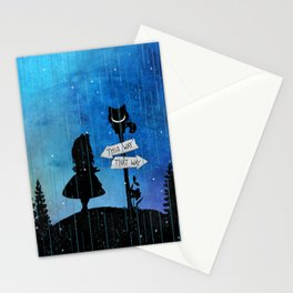 Any Road Will Get You There - Alice In Wonderland Stationery Cards
