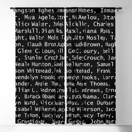 African American Literary Rebels Blackout Curtain