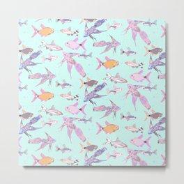 Pretty patterned fish Metal Print
