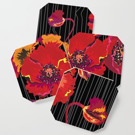 Poppy variation 10 Coaster
