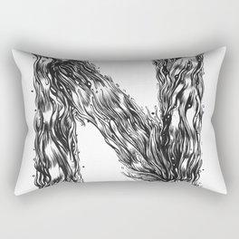 The Illustrated N Rectangular Pillow