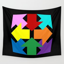 Anywhere You Want to Go - Black Wall Tapestry